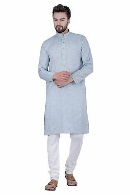 Traditional Men's Wear Olive Green Kurta & Churidaar Pyjami Cotton Linen Durable In Use Men's Clothing