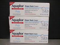 3 Aquaphor Diaper Rash Cream Prevents/soothes/treats 3.5oz Ea Exp 1/17+ De 8659