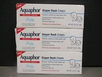 3 Aquaphor Diaper Rash Cream Prevents/soothes/treats 3x3.5oz Ea Exp317+ De 9336