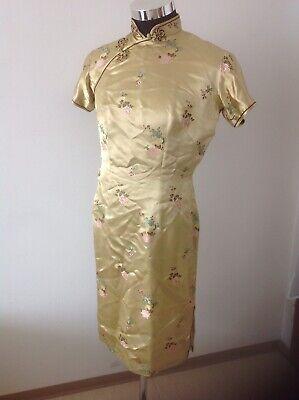 Handgefertigtes Traditionelle Chinesisches Kleid 36- 38, Trachten, Seiden Brokat Durchsichtig In Sicht
