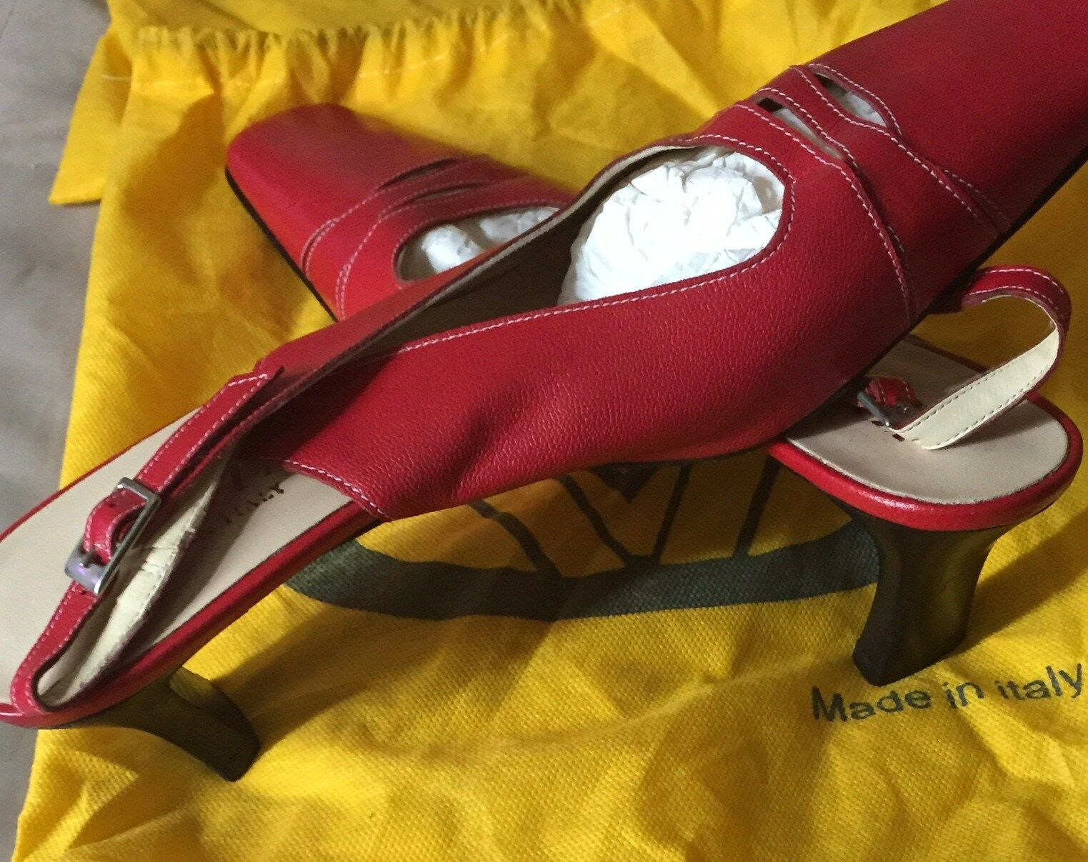 rot  Rosa Melia (Lav Artibiana) schuhe 1.5  with dust bag made in