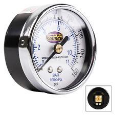 0 160 Psi Air Pressure Gauge 14 Npt Center Back Mount Cbm 2 Face