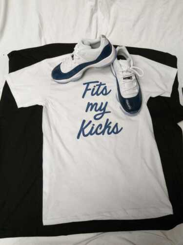 Tshirt Match Jordan 11 Blue Snakeskin FMK Tshirt