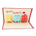 3D Pop Up Train Greeting Card Paper Cut Postcard Birthday Valentines Party Gift