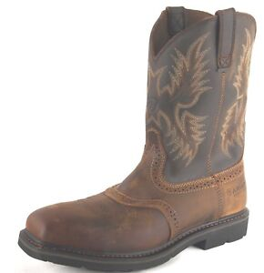 Ariat-Mens-Sierra-Square-Toe-Steel-Toe-Safety-Work-Western-Boots-10010134