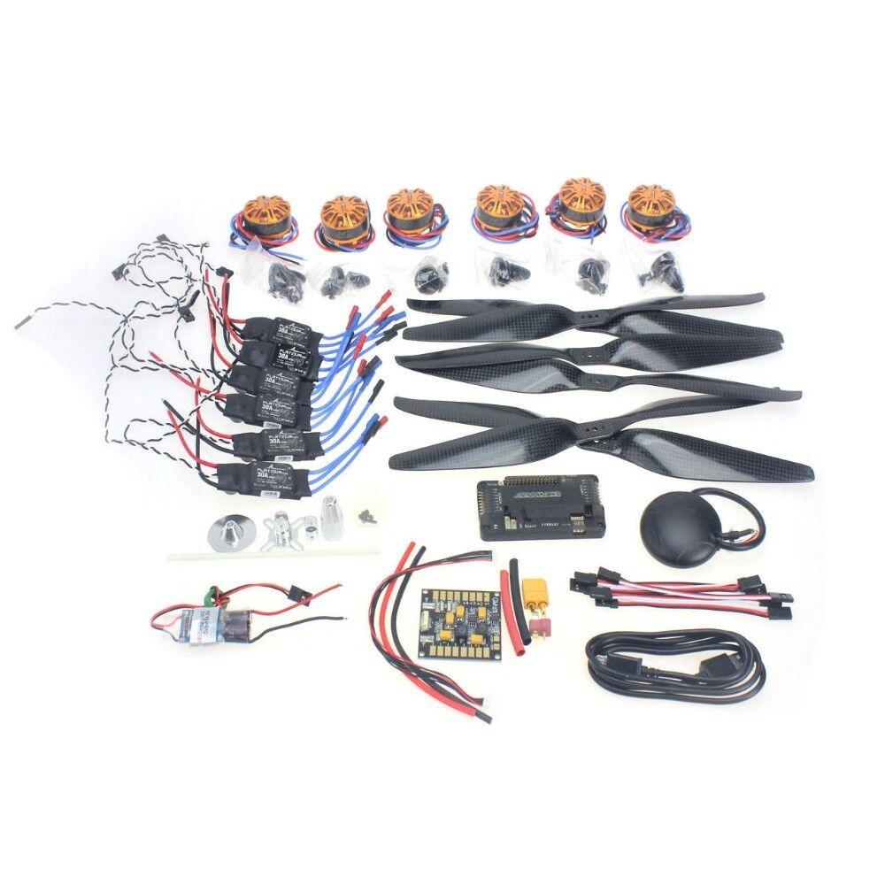 JMT 680-700 6-Aix RC Drone Necessity kits 700KV Motor+30A ESC+1555 Props+APM2.8