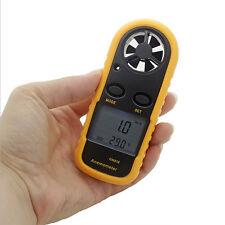 Windmesser Anemometer Windgeschwindigkeit LCD Lufttemperatur Windmessgerät GM816