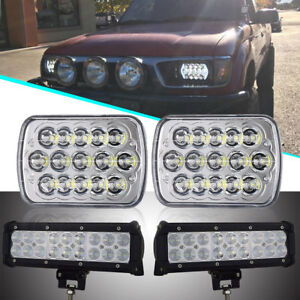 Image Is Loading Rectangular Replacement Square Led Headlight For 86 97