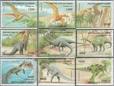 Never Hinged 1998 Prehistoric Animals Crease-Resistance Stamps Benin Aggressive Benin 1040-1048 Unmounted Mint