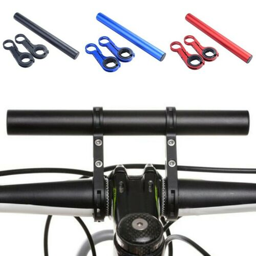 UK Aluminum MTB Bike Bicycle Handle Bar Extender Flashlight Holder Mount Bracket