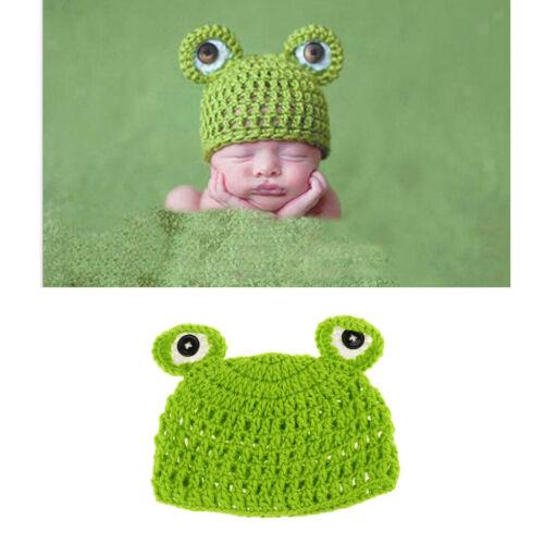 Handgestrickte Baby Mütze Kinder Tier Cartoon Frosch Handgemachte Mütze