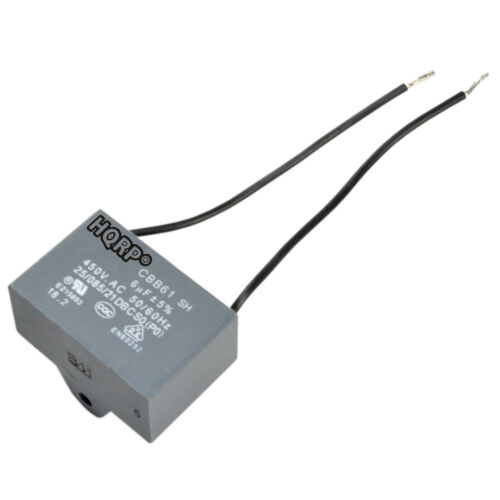 Ceiling Fan Motor Capacitor 6uf 2-Wire CBB61 Replacement
