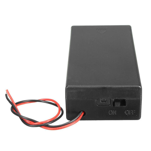 3.7V 2x 18650 Battery Holder Connector Storage Case Box ON/OFF Switch With B1Q8