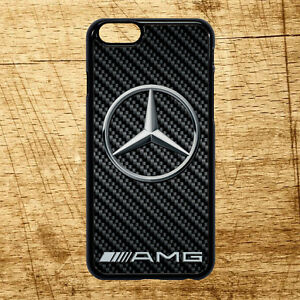 low cost a2d70 7d59e Details about Apple Iphone Samsung Galaxy Mercedes Benz AMG Carbon Logo  Case Cover All Models