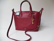 FOSSIL Julia satchel  wine cross body   brand new with tags