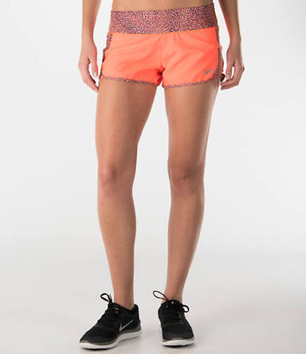 Nike Nuovo Crew 40 723928 Xl da 886061545984 short Printed Orange Hyper 877 running Panel donna da rq6rxtX1