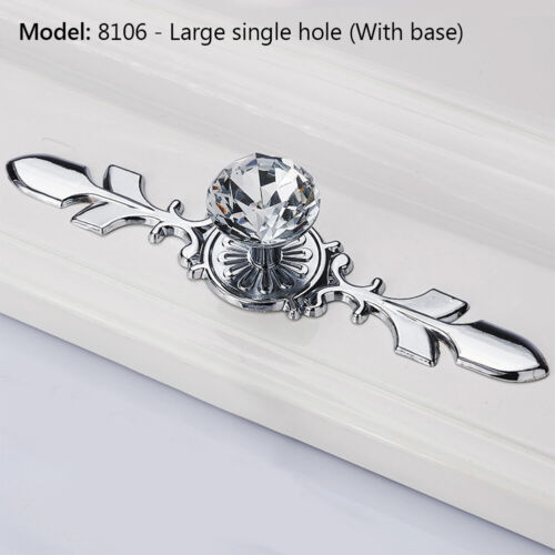 Luxury Diamond Crystal Cabinet Handles Closet Door Drawer Knobs Wardrobe Pulls