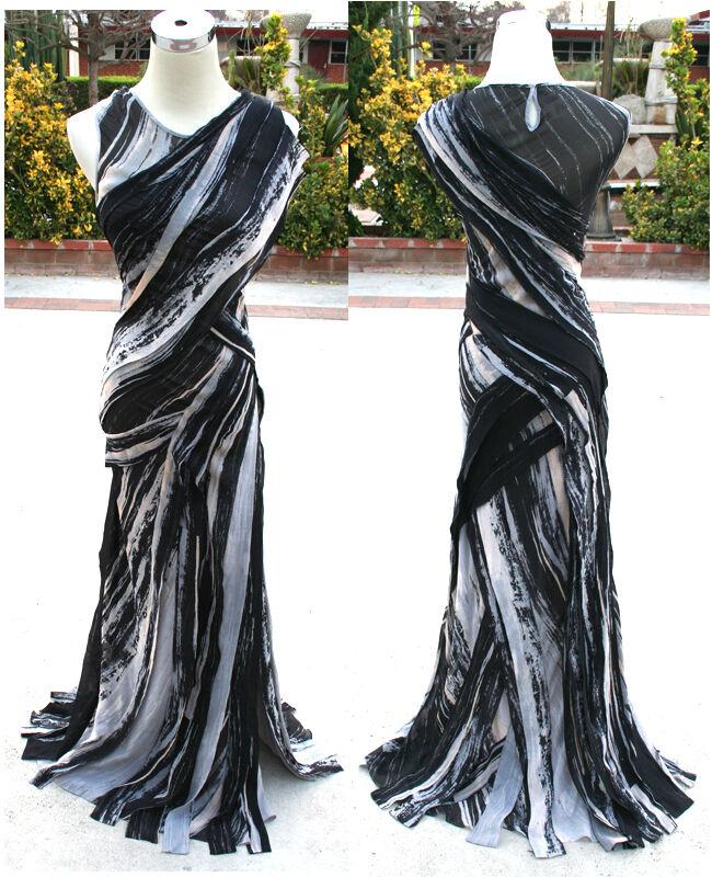 NWT Max Azria seda negra formal vestido de  noche XXS  tomamos a los clientes como nuestro dios