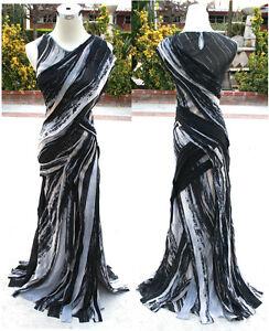 NWT MAX AZRIA $998 Black Silk Formal