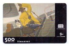 Iceland phonecard, ICE-C-01, 500 kronur, Gunnlaugur Sheving´s Painting Fishing