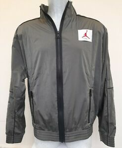 Nike-Jordan-Flight-Men-039-s-Warm-Up-Jacket-CK6652-354-Green-Medium