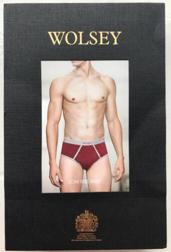Wolsey Men/'s Low Rise Brief Small U333-RED Red