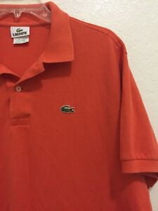 LACOSTE-Polo-Short-Sleeve-Shirt-Orange-Mens-Size-7