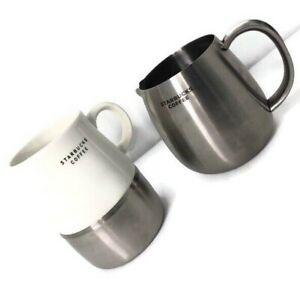Starbucks Unique Coffee White Ceramic & Stainless Steel ...
