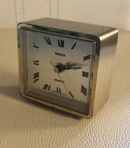 VINTAGE SWIZA BRASS ALARM CLOCK