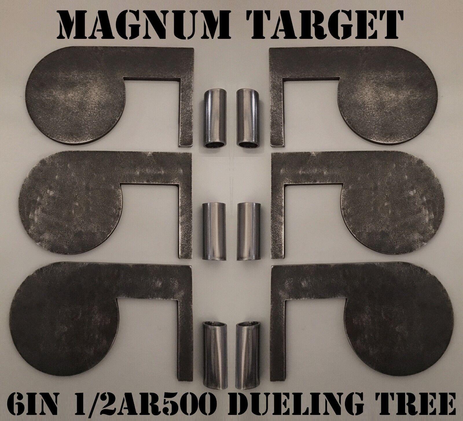 6in. 1 2in. AR500 Acero objetivos de campo de tiro-duelo árboles con tubos
