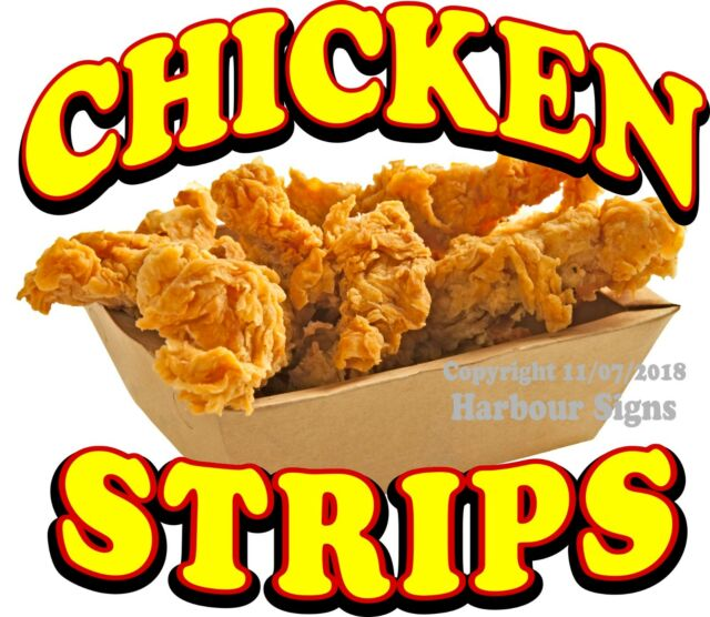 Chicken Strips Decal Choose Your Size Food Truck Concession Vinyl