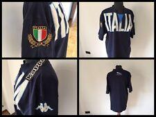 Maglia rugby italia t-shirt kappa jaguar fir jersey maillot trikot vintage