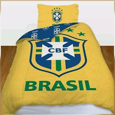 100% Con Licenza Ufficiale Brasile Polly/cotone Stampato Double Trapunta Set Copripiumino-
