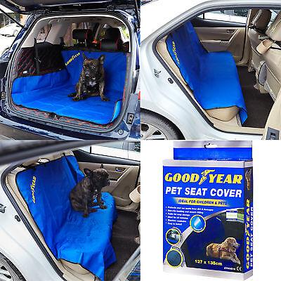 Goodyear Waterproof Car Rear Seat Cover Boot Liner Mat Protector Floor Trunk Dog