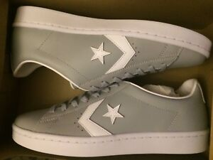 489f6d2c373f82 Converse Pro Leather 76 OX Wolf Grey White 158089C Unisex US Men ...