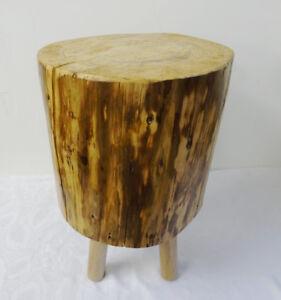 Beistelltischbaumstammrustikaler Tischmassivhockerbaumscheibe