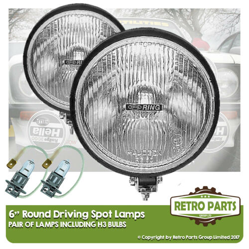 6 Roung Driving Spot Lamps for Ford Taunus 26M XL. Lights Main Beam Extra