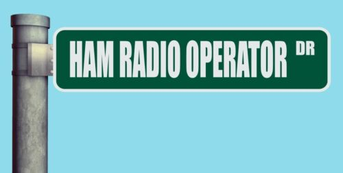 "HAM RADIO OPERATOR DR STREET SIGN DRIVE HEAVY DUTY ALUMINUM ROAD SIGN 17/"" x 4/"""