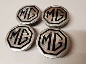MGTF-MGF-New-Genuine-MG-ALLOY-WHEEL-CENTRE-CAPS-54mm-X-4-BLACK-amp-SILVER