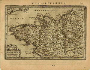 Map Of Northwest France.1651 Genuine Antique Map Of Nw France Britannia Normandy By