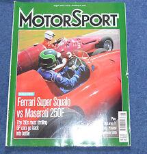 Motor Sport August 1997 Ferrari Super Squalo, Maserati 250F, Gethin BMW
