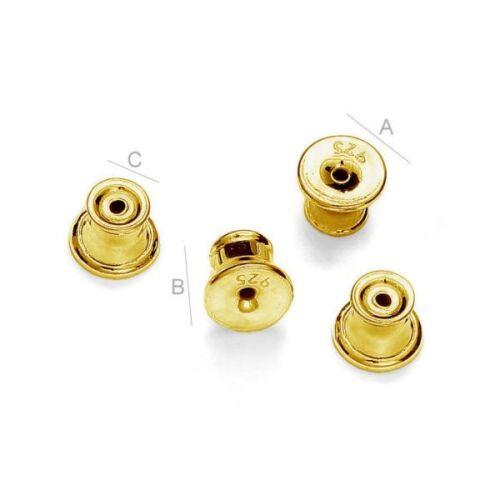Qualité argent sterling plaqué or boucle d/'oreille dos Bouchons Post silicone à l/'intérieur
