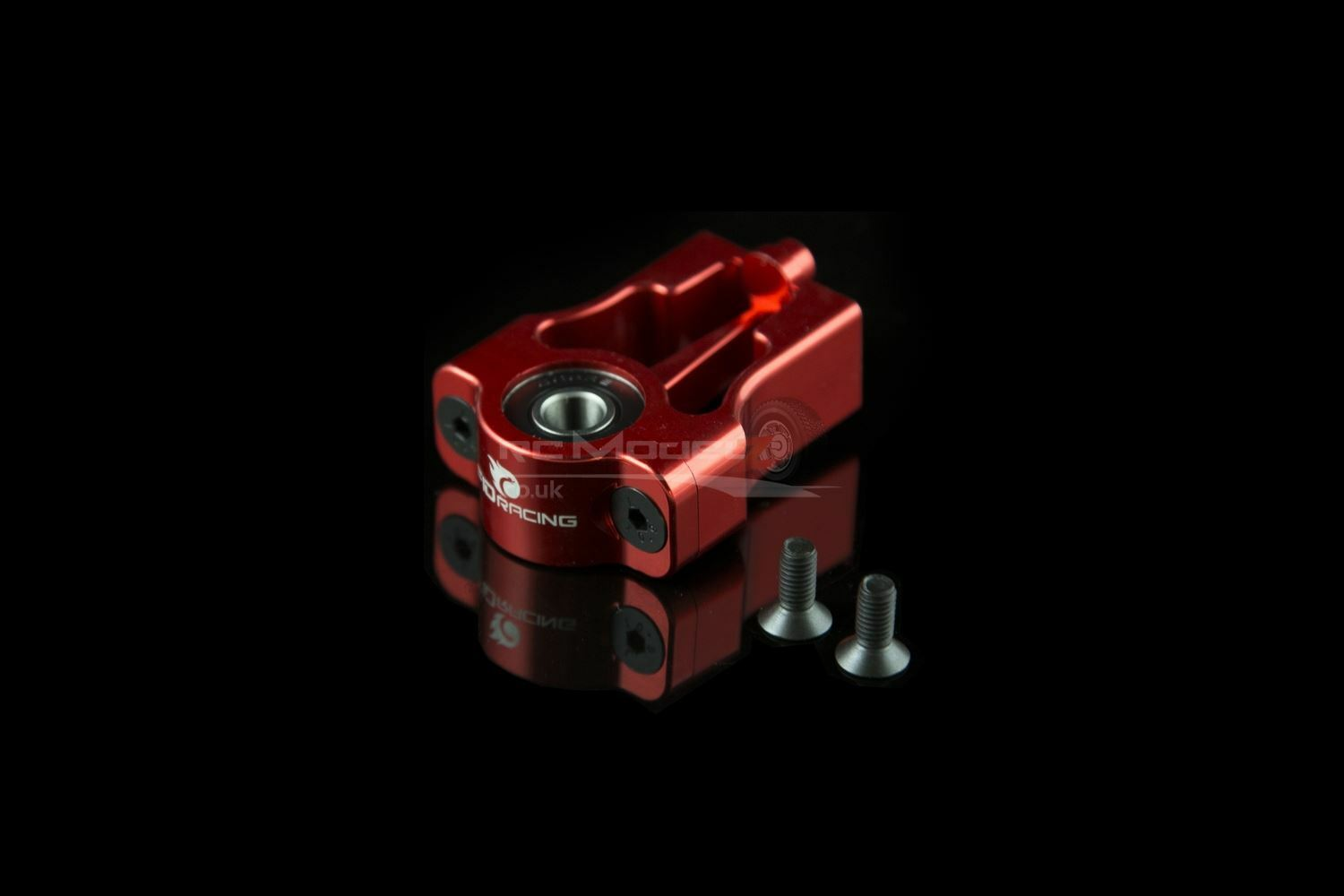 FID Alloy Rear Centre Drive Shaft Mount Red KM X2 Losi 5ive RC 1 5th Upgrade