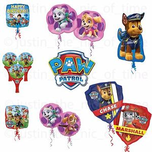 Image Is Loading PAW PATROL Rescue Pups Party Foil Balloon Helium