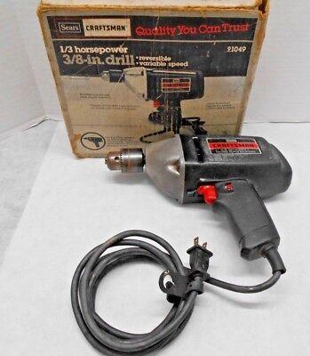 Vintage Sears Craftsman 1/3 HP 3/8