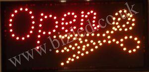2 Mode Clignotant Open Jaune Ciseaux Led Nouvelle Fenêtre Magasin Signes-afficher Le Titre D'origine 6p3ftv8a-07214910-433795333