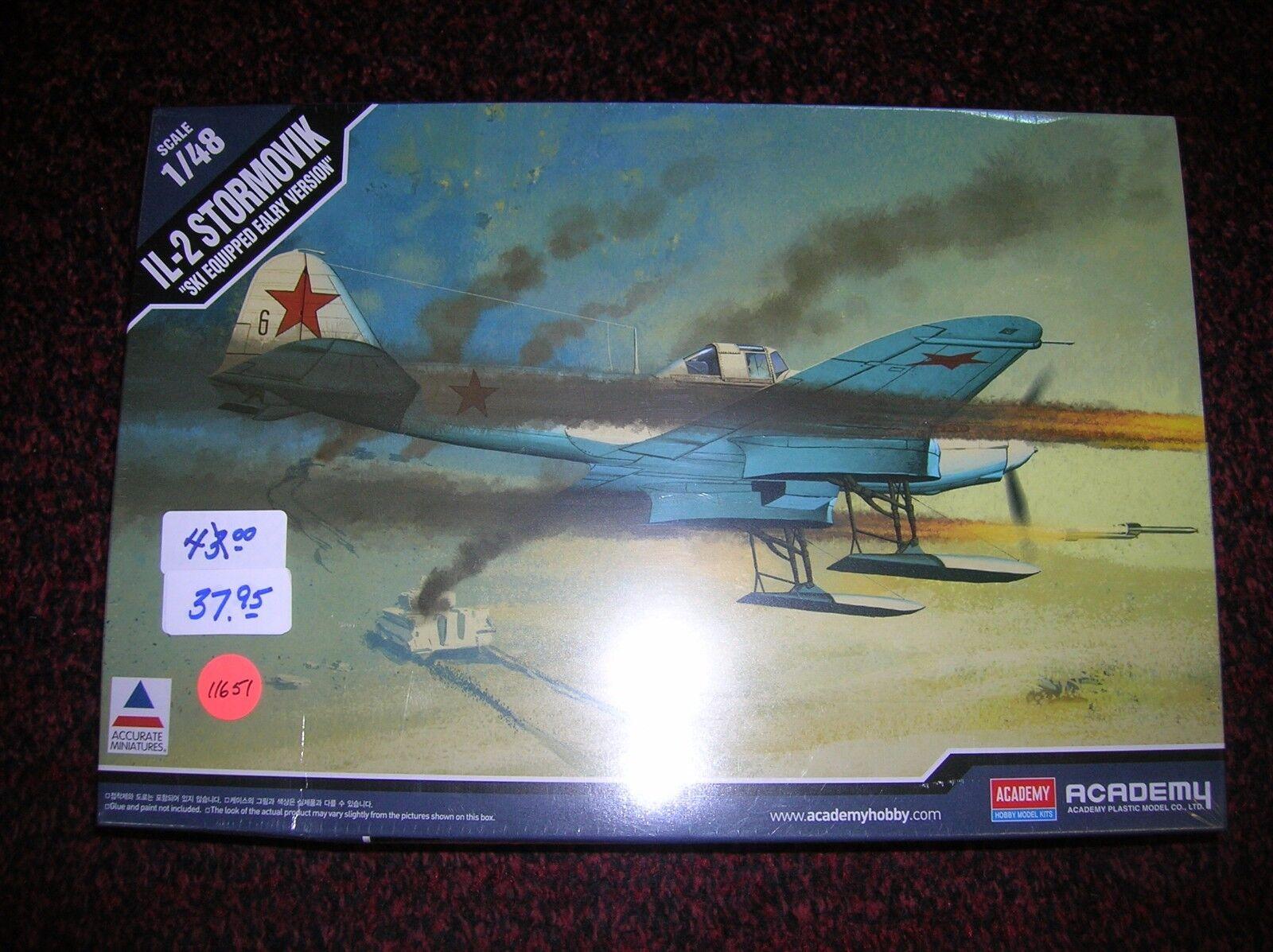Academy   IL-2 Stormovik   Russian      1 48 list   43.00 lot