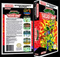 Teenage Mutant Ninja Turtles-2 Arcade - Nes Reproduction Art Case/box No Game.