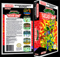 Teenage Mutant Ninja Turtles-2 Arcade - Nes Reproduction Art Case/box No Game.