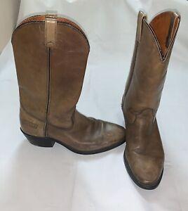 88e83388a7b Details about VIBRAM Resist Oil Western Saddle Brown Leather Cowboy Boots  Men Size 9.5D Brooks